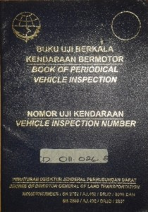 book of periodical vehicle inspection