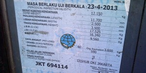 Indonesia car license and KIR Stiker